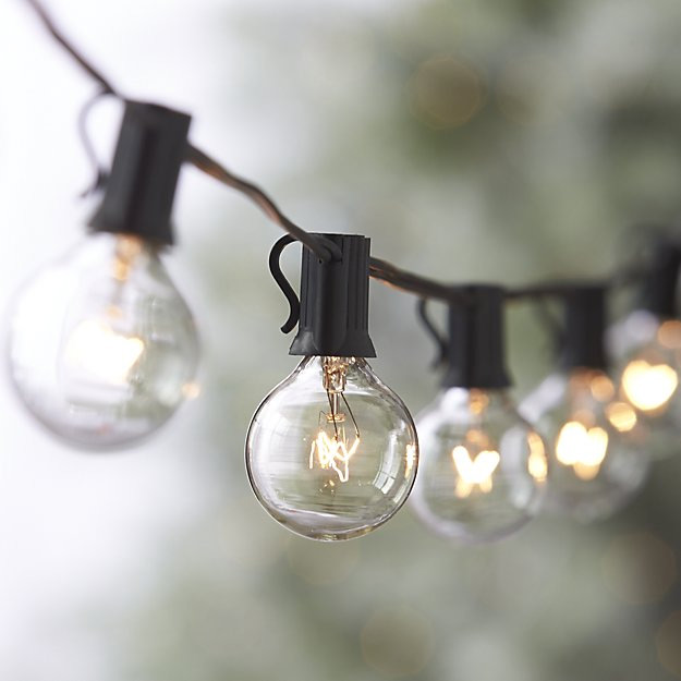Set Of 10 Cafe String Lights End To Connect