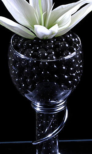 Black Gel Floral Water To Beads