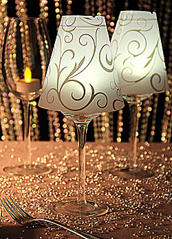 Decorative Glass Lamp Shades on Wine Glass Vellum Swirl Decor Lamp Shade   Set Of 12