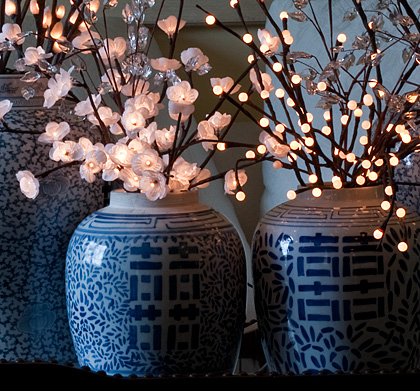 Lighted Branches And Flowers Illuminated Gardens