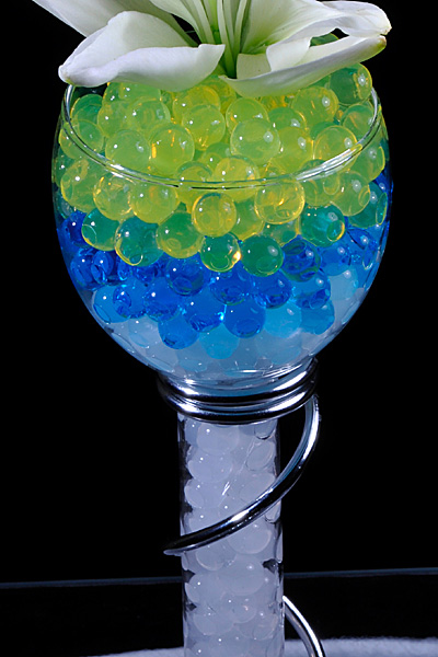 Yellow Gel Floral Water To Beads