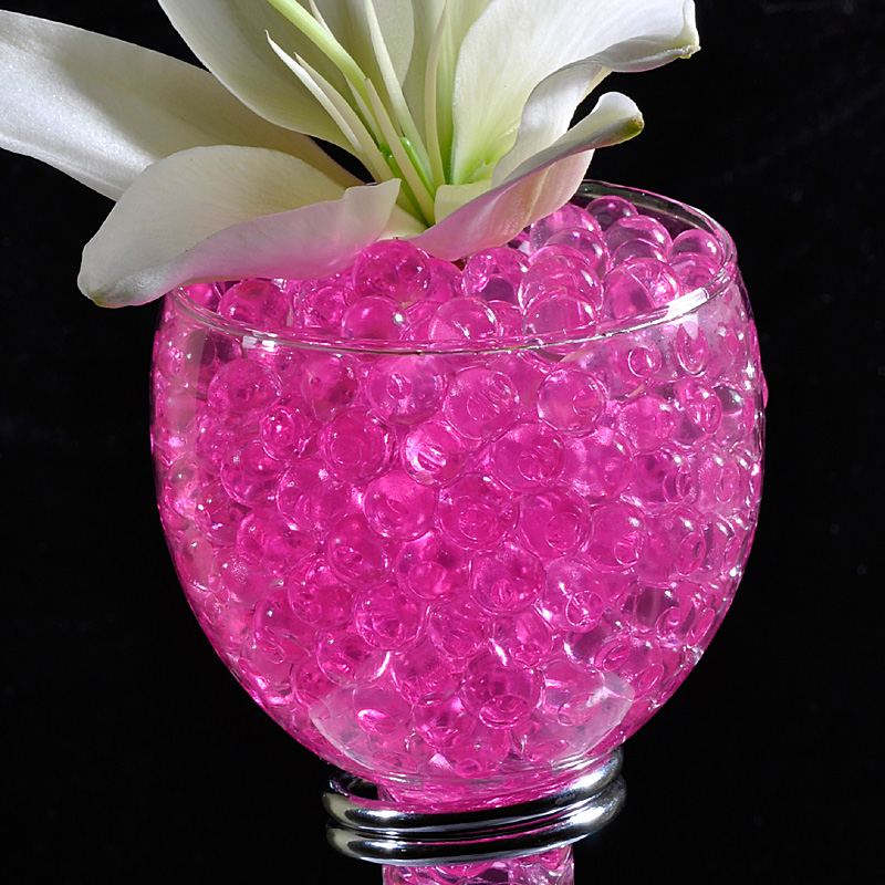 Pink Gel Floral Water To Beads