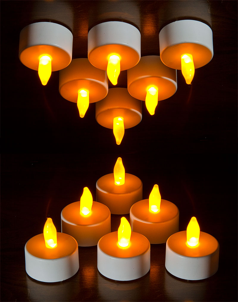 Buy Flickering Flameless Tealights Battery Operated Set Of 6