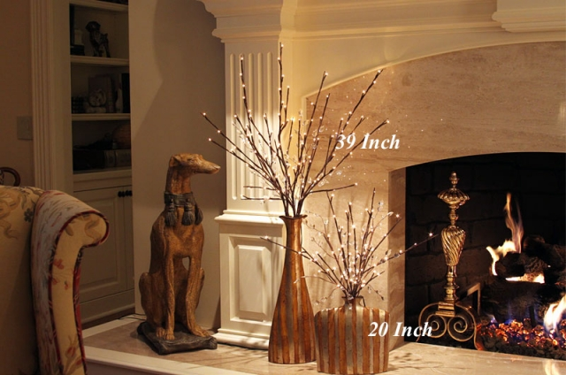Lighted Willow Branch 96 Bulb - 3 Stems From The Light Garden
